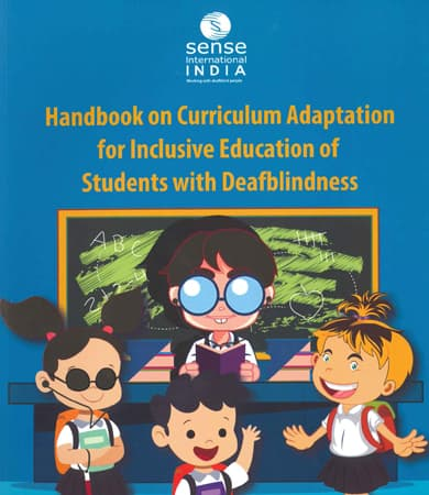 Cover page of Handbook on Curriculum Adaption for Inclusive Education of Students with Deafblindness