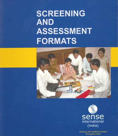 Cover page of Screening and Assessment Formats